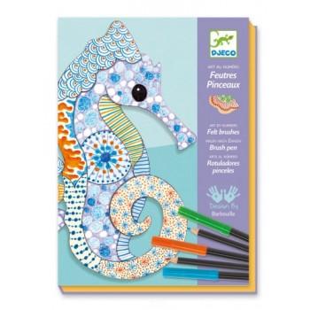 DJECO Zestaw artystyczny - Morskie zwierzęta 08648