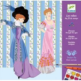 DJECO 08734 Zestaw artystyczny - Moda - Suknie balowe