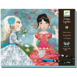 DJECO 08752 Zestaw artystyczny Moda - Damy dworu