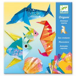 Djeco – Origami – metaliczne morskie zwierzęta – 08755