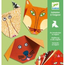 DJECO 08761 Origami z naklejkami - Zwierzaki