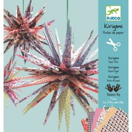 DJECO 08765 Kirigami - Origami - Papierowe gwiazdy