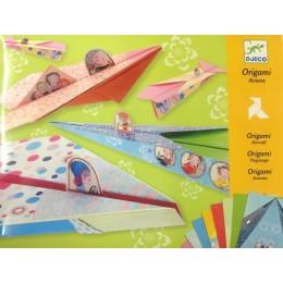 DJECO 08769 Zestaw origami - Tęczowe Samoloty