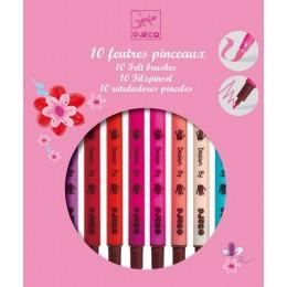 DJECO 08802 Różowy zestaw dwustronnych mazaków
