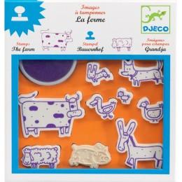 DJECO 08809 Zestaw stempelków z tuszem - Farma