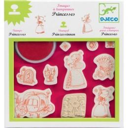 DJECO 08810 Zestaw stempelków z tuszem - Księżniczki