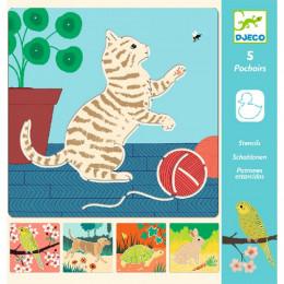 DJECO - Szablony do rysowania - Zwierzęta 08820