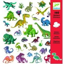 DJECO 08843 Naklejki 160 szt. - Dinozaury