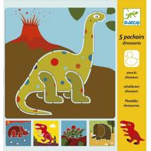 DJECO - Szablony do rysowania - Dinozaury 08863
