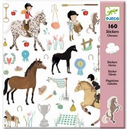 DJECO 08881 Naklejki 160 szt. - Konie