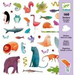 DJECO 08883 Naklejki - Dzikie zwierzęta