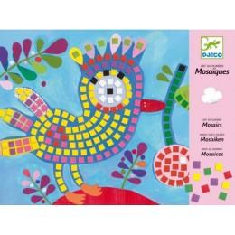 DJECO 08894 Zestaw artystyczny - Mozaiki - Ptaszki i biedronki