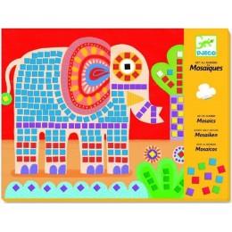 DJECO 08895 Zestaw artystyczny - Mozaiki - Słonie i ślimaki