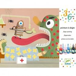 DJECO - Malowanie palcami - Zestaw art. Potworki - 08903