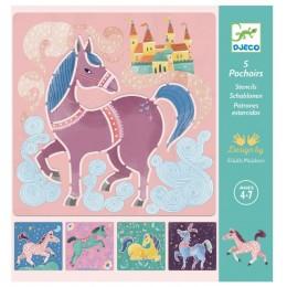 DJECO – Szablony do rysowania - Konie 08915