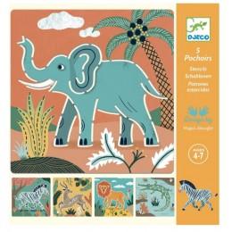 DJECO - Szablony do rysowania - Dzikie zwierzątka 08916