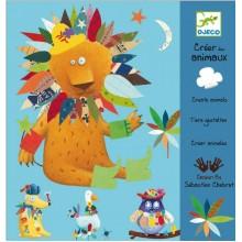 DJECO - Zestaw kreatywny z naklejkami - Ubierz zwierzaka - 08932