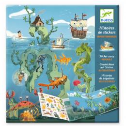 DJECO - Zestaw z naklejkami - Morskie przygody - 08953