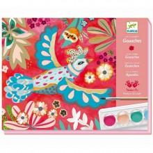 DJECO - Zestaw artystyczny z farbami - Kolorowe ptaki - 08963