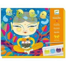 DJECO – Zestaw kreatywny z farbami – India 08964
