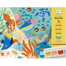 DJECO - Zestaw artystyczny z farbami - Świat natury 08965