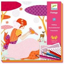 DJECO Zestaw artystyczny Frottage - Piękne suknie 08985
