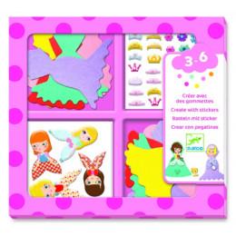 Djeco – Zestaw z naklejkami – Kocham księżniczki – 09053