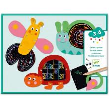 DJECO - Wydrapywanka-składanka – Zabawne zwierzęta – 09094