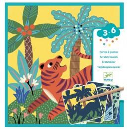 DJECO – Wydrapywanka dla maluchów – Duże zwierzęta 09095