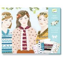 DJECO - Zestaw artystyczny - Dziewczyny z czterech pór roku 09401