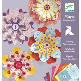 DJECO 09403 Kirigami - Papierowe kwiaty