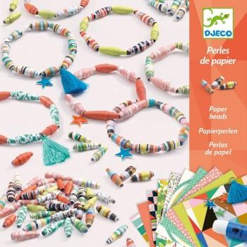 DJECO Zestaw do tworzenia biżuterii - papierowe bransoletki 09404