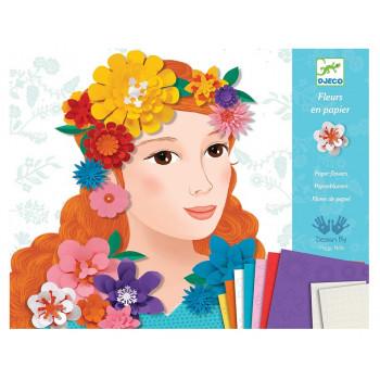 DJECO - Zestaw artystyczny - Dziewczyna w kwiatach 09439