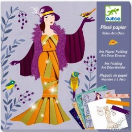 DJECO 09442 Zestaw artystyczny - Plisy - Moda Suknie Art Deco