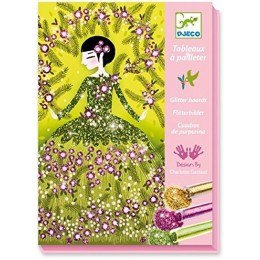 DJECO 09500 Zestaw artystyczny - Malowanie brokatem - Suknie