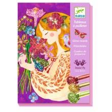 DJECO - Zestaw artystyczny z brokatem - Zapach kwiatów 09508