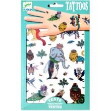 DJECO 09580 Tatuaże - Metaliczne Zwierzęta