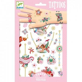 DJECO 09586 Tatuaże metaliczne - klejnoty Fiony