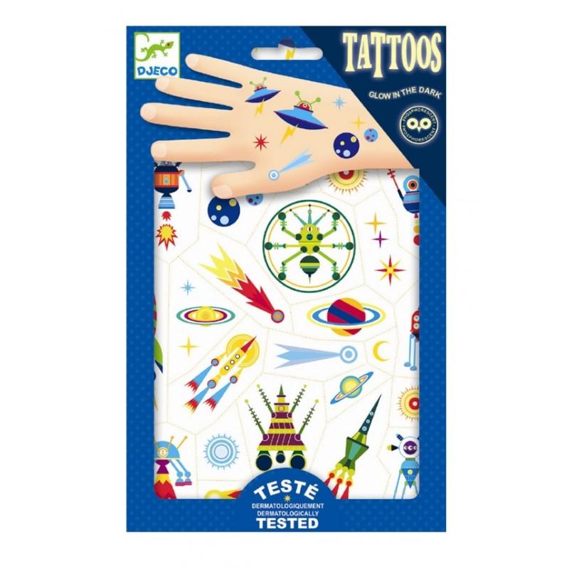 Djeco Tatuaże świecące W Ciemności Kosmos 09590