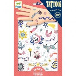 DJECO - Tatuaże tymczasowe - Świecące w ciemności - Sny 09592