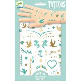 DJECO - Tatuaże tymczasowe - Metaliczne - Klejnoty Lily 09593