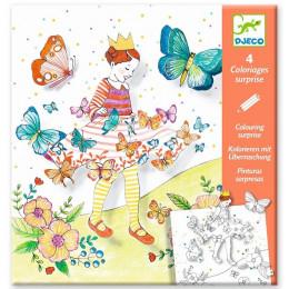 DJECO – Kolorowanka z niespodzianką – Pani Motylek 09629