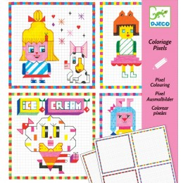 DJECO Kolorowanka pixele - HIPSTER GIRLS 09643