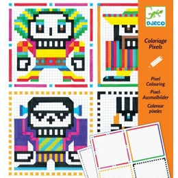 DJECO Kolorowanka pixele - SKULL BOYS 09644