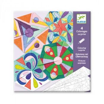 DJECO - Kolorowanki do składania - Mandale i rozety 09656