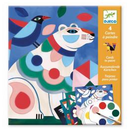 Djeco – Kolorowanka z farbami – kolorowe zwierzęta – 09658