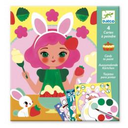 Djeco – Kolorowanka z farbami czas na przekąskę – 09659