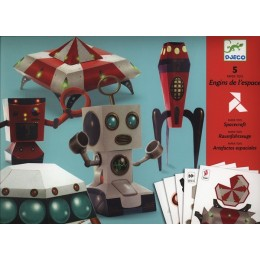 DJECO 09670 Składanki papierowe - Origami - Pojazdy kosmiczne