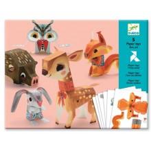 DJECO 09674 Składanka papierowa - leśne zwierzątka