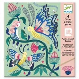 DJECO 09719 Scratch Art - Wydrapywanka Tajemniczy ogród